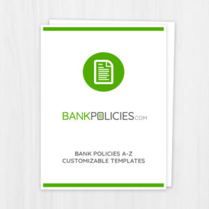 Bank Administrative Policy Template Package